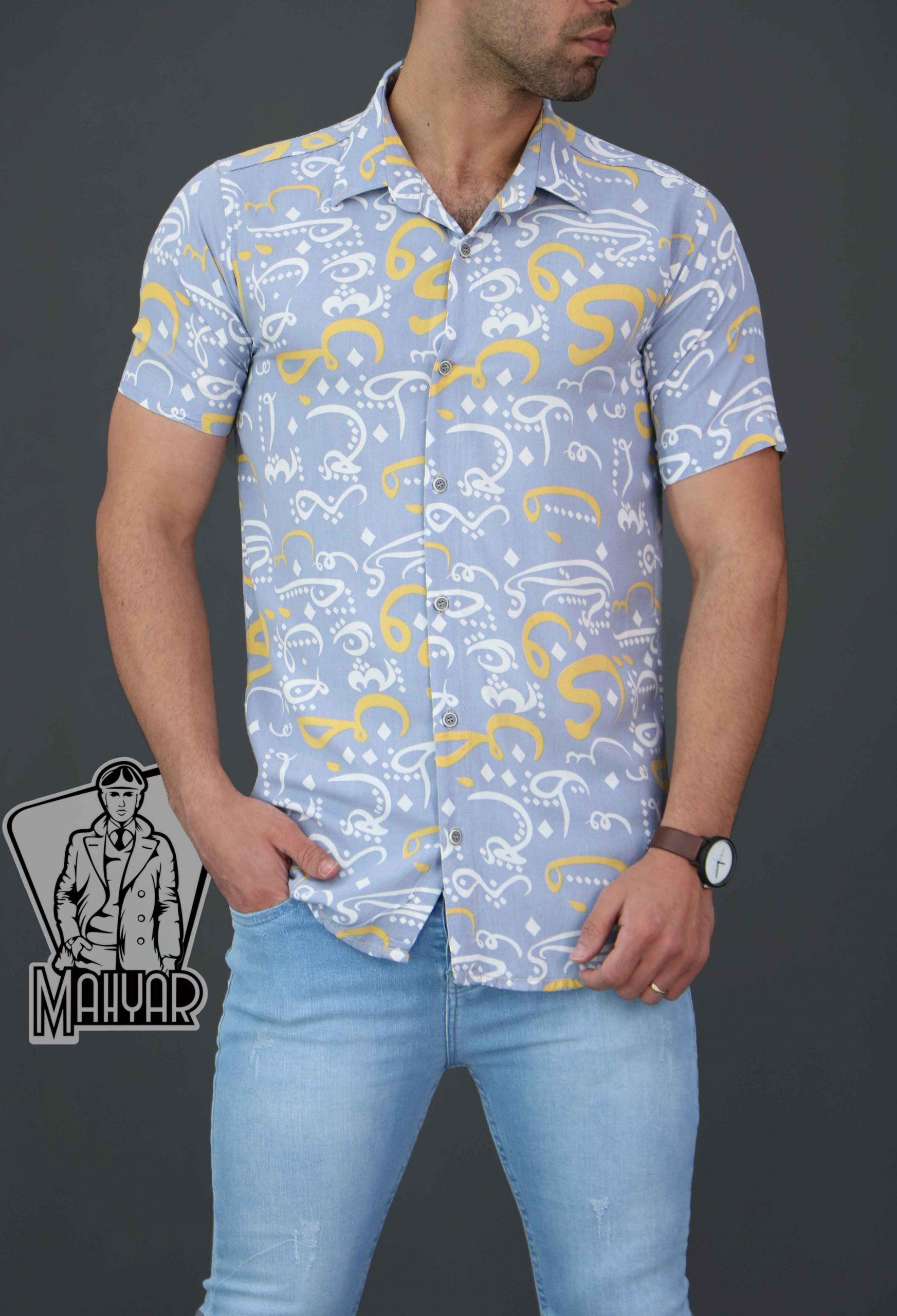 پیراهن هاوایی مردانه کد 155