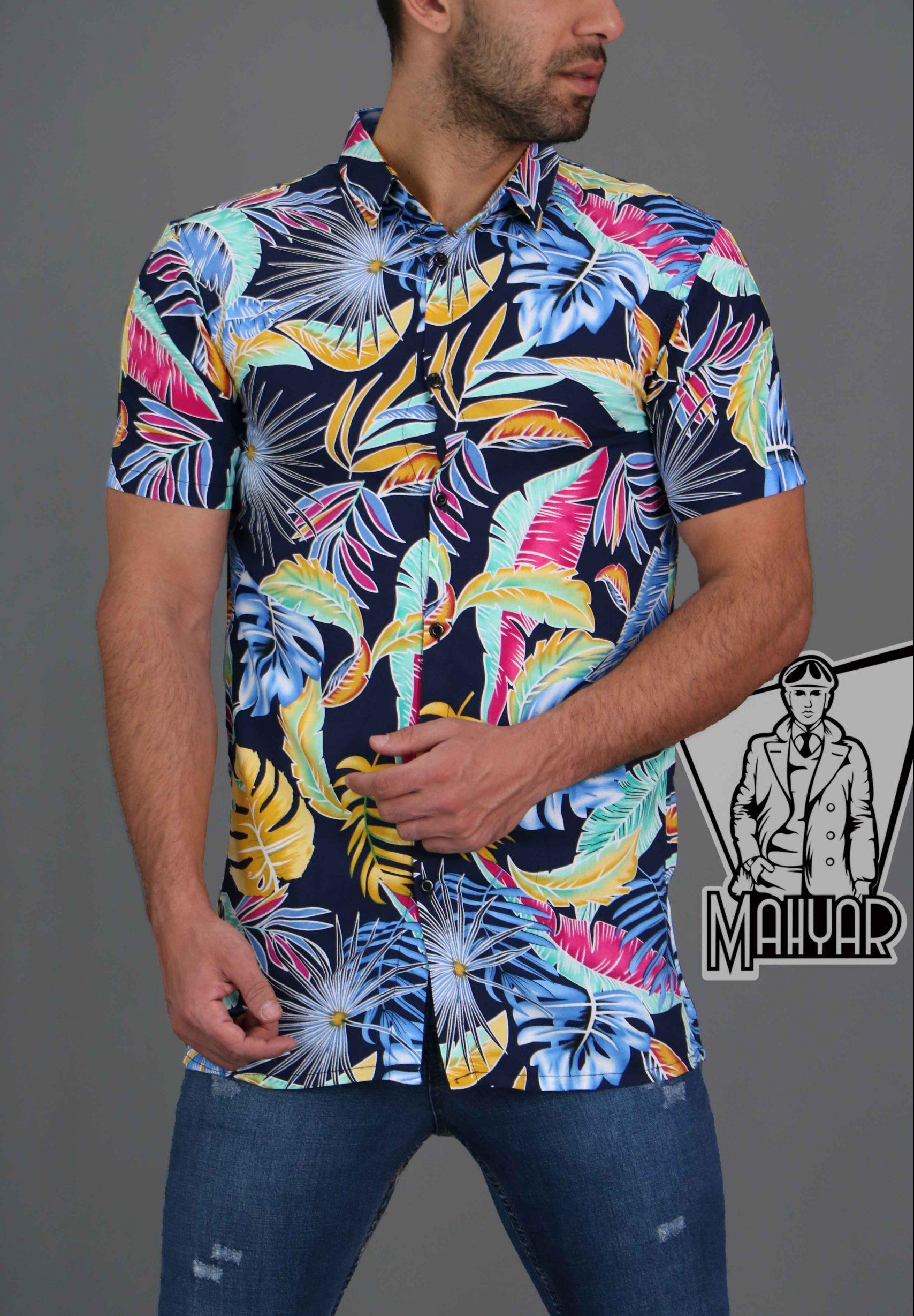 پیراهن هاوایی آستین کوتاه کد 206